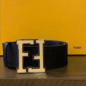 Men's Authentic Fendi Logo FF Buckle Belt